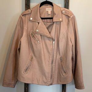 Chico's Faux-leather Moto Jacket